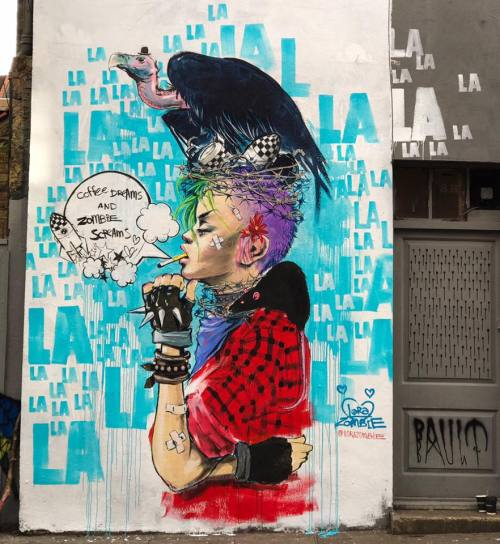 veryprivateart:Street art by Laura Zombie
