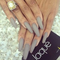 matte grey nails | Tumblr