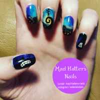 nightmare before christmas nail art | Tumblr