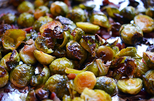 Roasted Brussels Sprouts and Bacon | Michelle Tam http://nomnompaleo.com