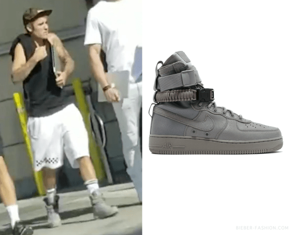 d44ad12290586d bieber-fashion  Nike Special Field Air Force 1 in Dust Dust Dust ...