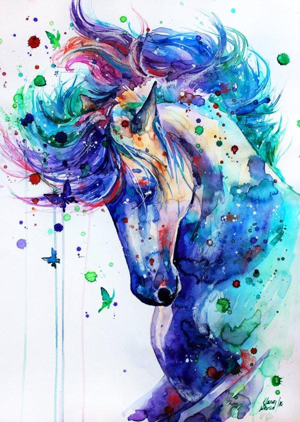Unicorn Watercolor Paintings Pinterest