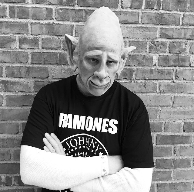 Turned my dad into the Ramones Pinhead. Sculpted, molded