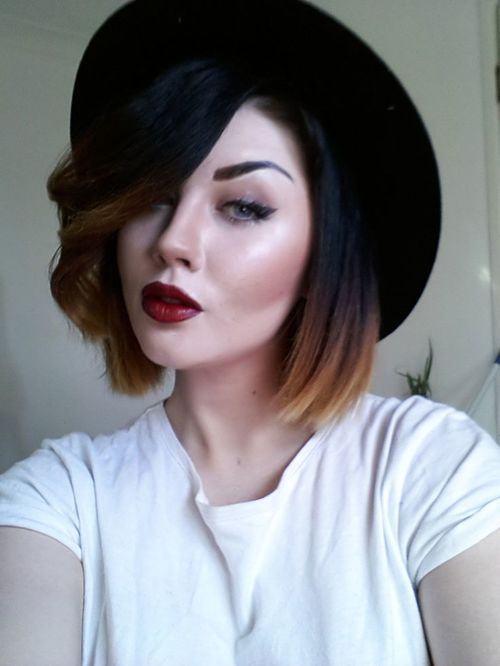 Brunette Bob Haircut Tumblr