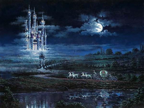 Thomas Kinkade Disney Castle Painting