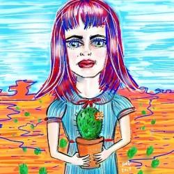 Doodling prickly girls #art #digitalart #drawing #illustration #drawdrawdraw #sketch #doodle #draw #perthartist #mood #perthcreatives #cactus #cartooning