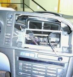 the mochinist saab 9 3 stereo upgrade part 2 install  [ 1280 x 960 Pixel ]