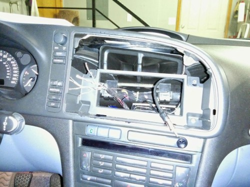 small resolution of the mochinist saab 9 3 stereo upgrade part 2 install