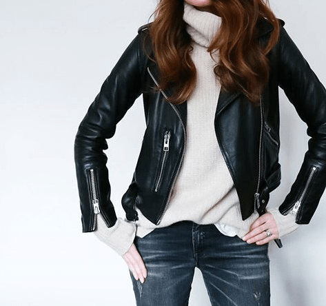 $35.19 Shop this black leather jacket »here« !