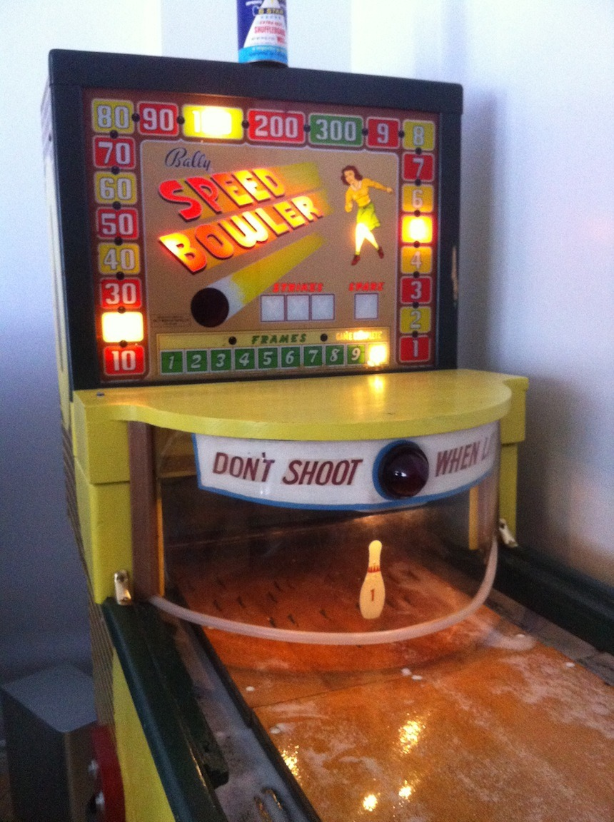 1950 Bally Speed Bowler Our rare and unique  Mystic Pinball Vintage Pinball Machines