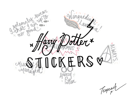 Yep, More Stickers: HARRY POTTER + Coming Soon..!