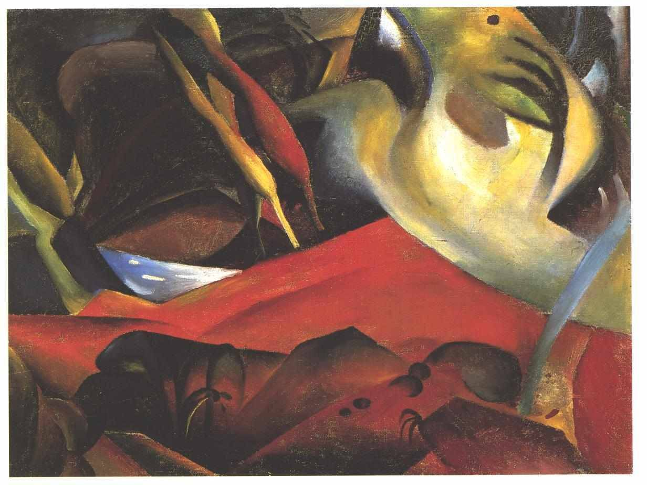 "artist-macke: "" The Storm by August Macke Size: 112x84 cm Medium: oil on canvas"""