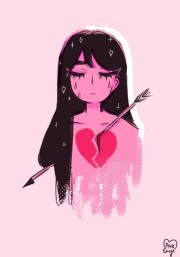 pastel pink anime