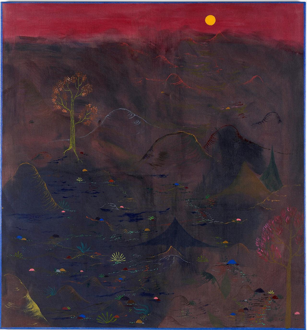 "thunderstruck9: ""Abel Auer (German, b. 1974), Kalte Felder [Cold Fields], 2011. Oil and acrylic on canvas, 140 x 130 cm. """