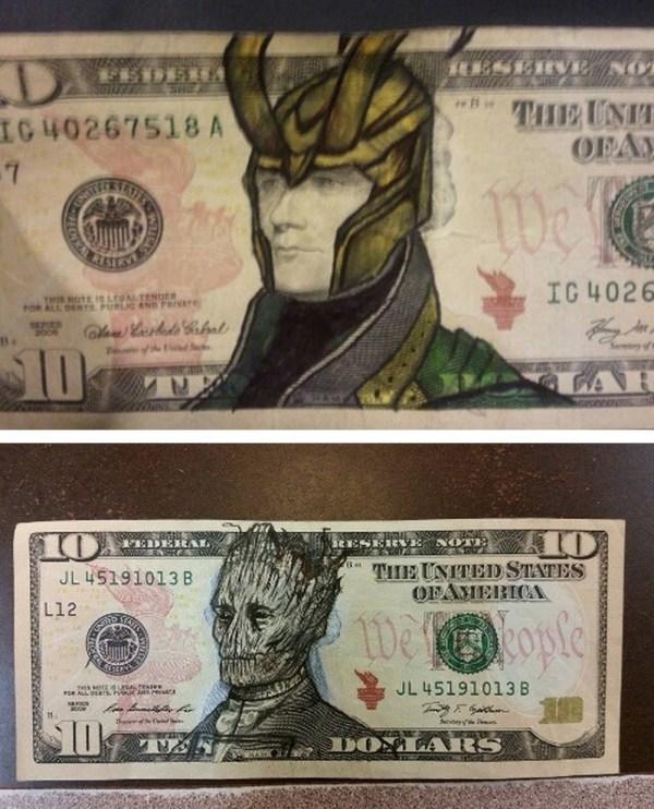 Tastefully Offensive Money Art Singsinkitchens Previously Artist