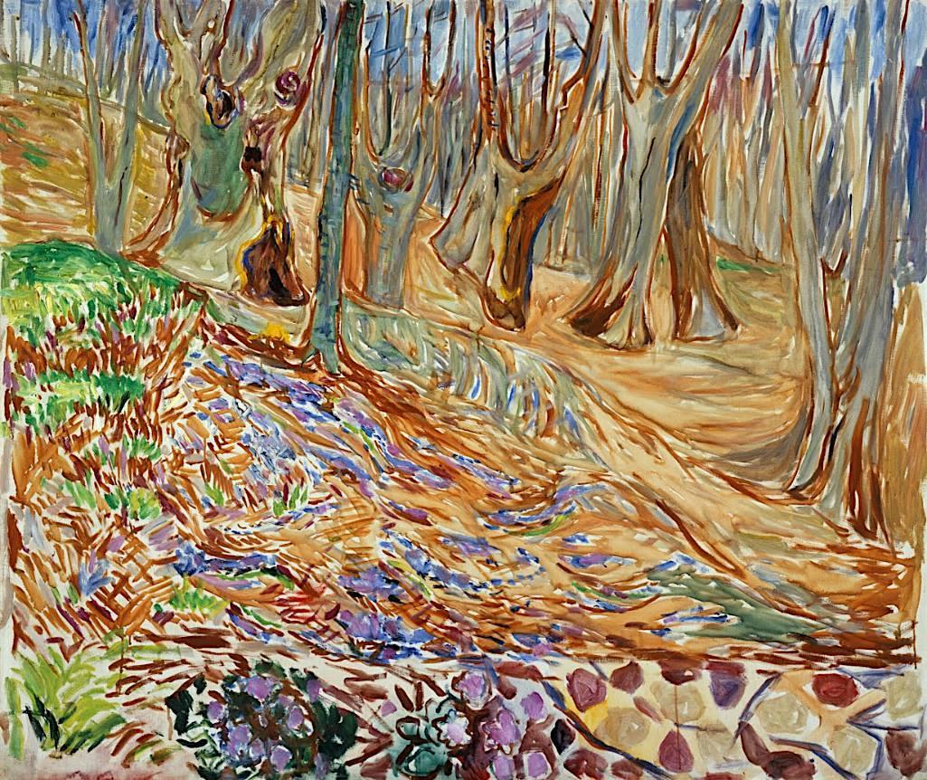 Edvard Munch - Elm Forest in Spring - 1923
