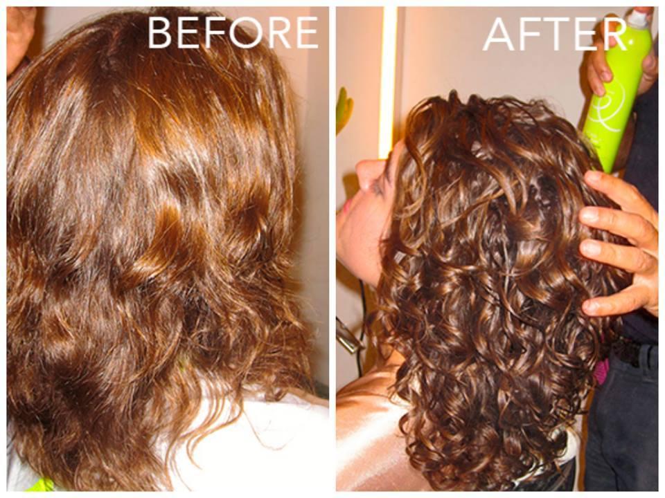 We Curls Before Amp After Deva Cut