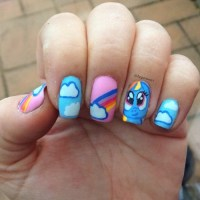 my little pony nails | Tumblr