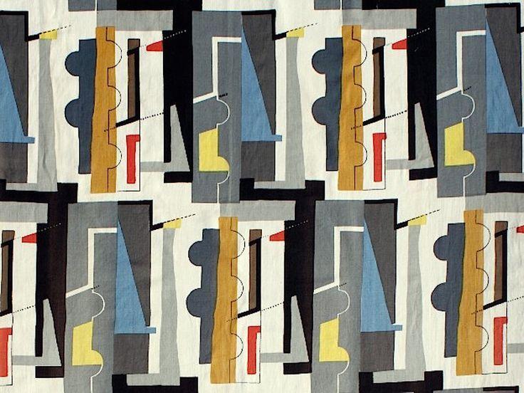 John Piper (UK 1903-1992) Abstract, 1955 screenprinted rayon