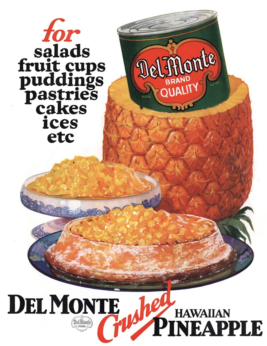 Del Monte Crushed Hawaiian Pineapple - published in The Saturday Evening Post - July 14, 1928