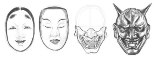 oni mask on Tumblr
