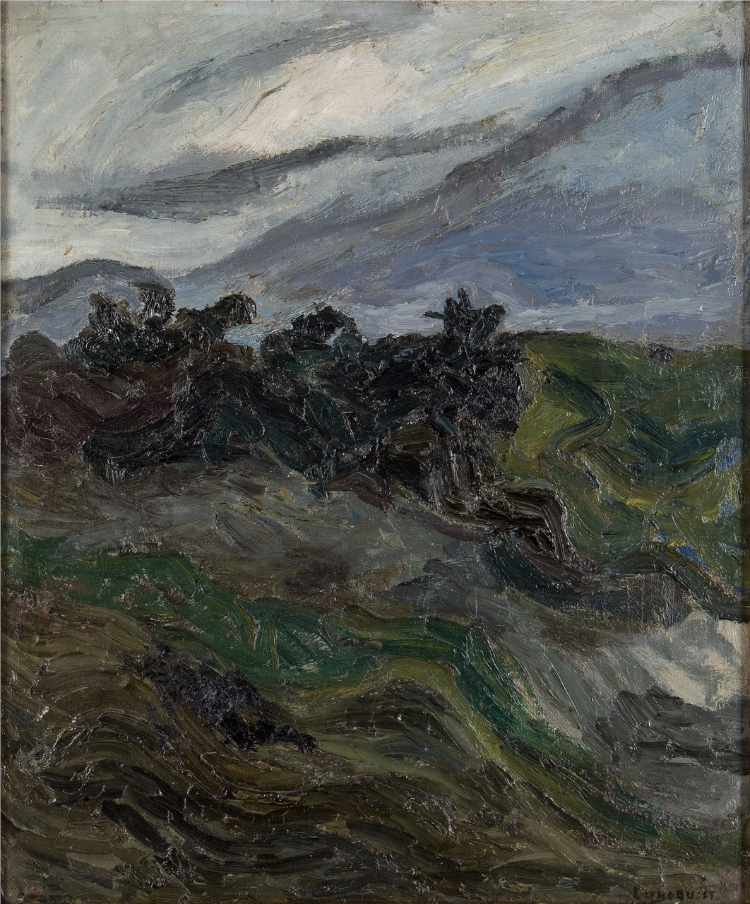 """terminusantequem: """"Evert Lundquist (Swedish, 1904-1994), Storm clouds. Oil on canvas, 66 x 55 cm """""""