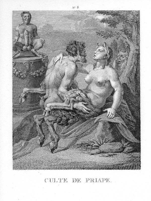 Agostino Carracci, Culte de Priape, Radierung ca. 1580
