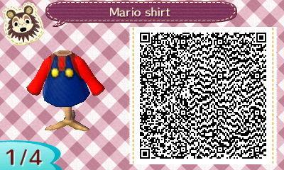 Acnl Cute Wallpaper Qr Codes Qt Codes Mario Shirt Source X