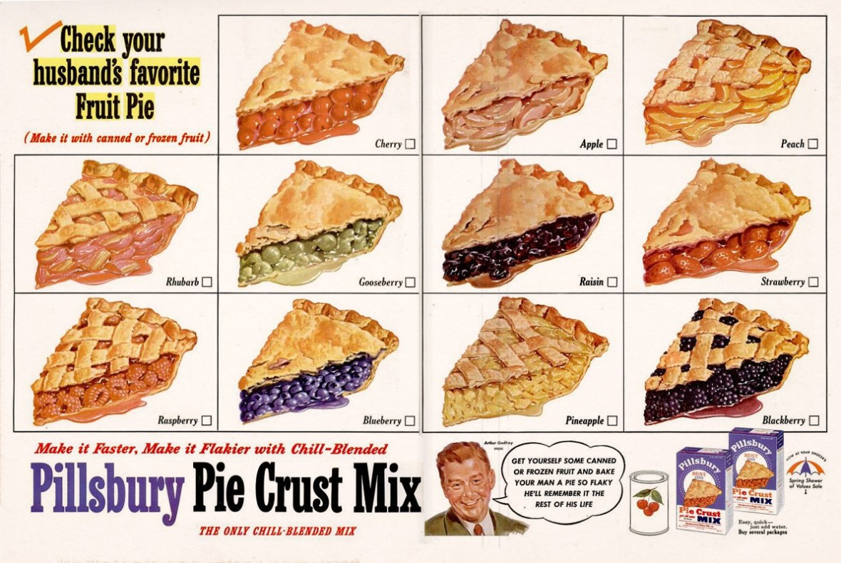 Pillsbury Pie Crust Mix - 1953