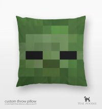 The Game Fanatics  Minecraft Throw Pillow by TealPoodle ...