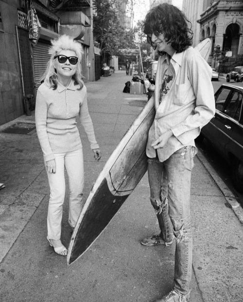 vaticanrust: Debbie Harry and Joey Ramone in New York City