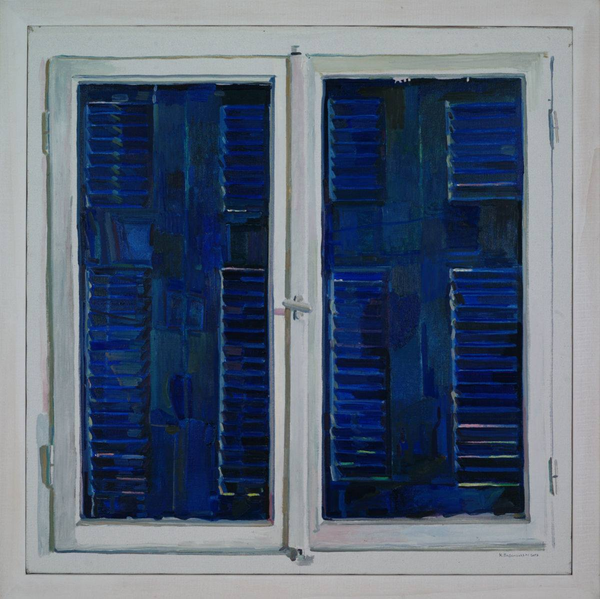 "amare-habeo: "" Kostas Papanikolaou (Greek, born 1959) Window representing itself, 2007 Oil on canvas, 80 x 80 cm """