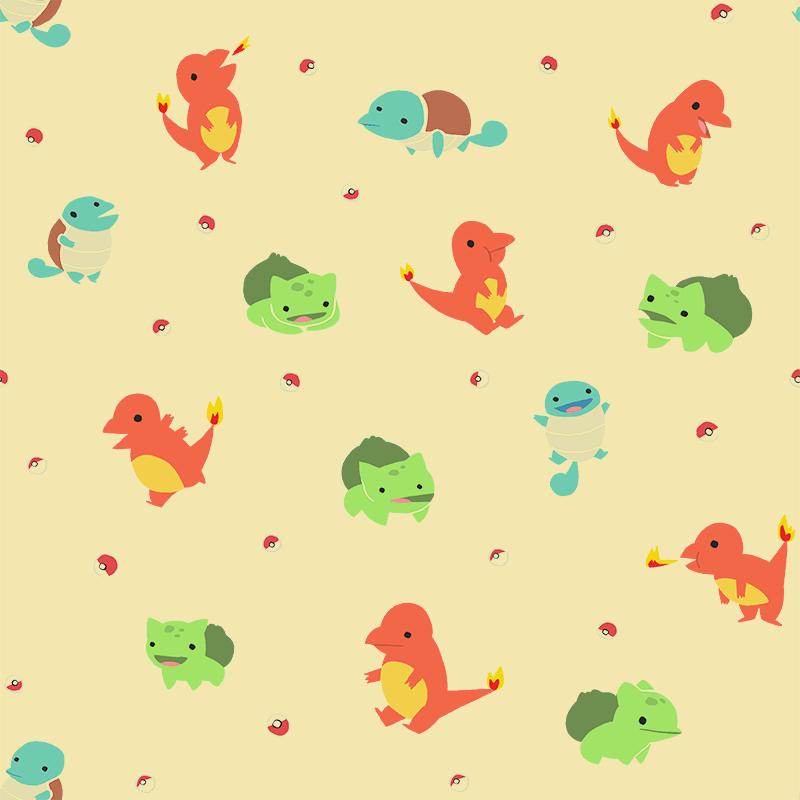 Cute Tofu Desktop Wallpaper Sketchin Thoughts Kanto Starters Wallpaper It Tiles