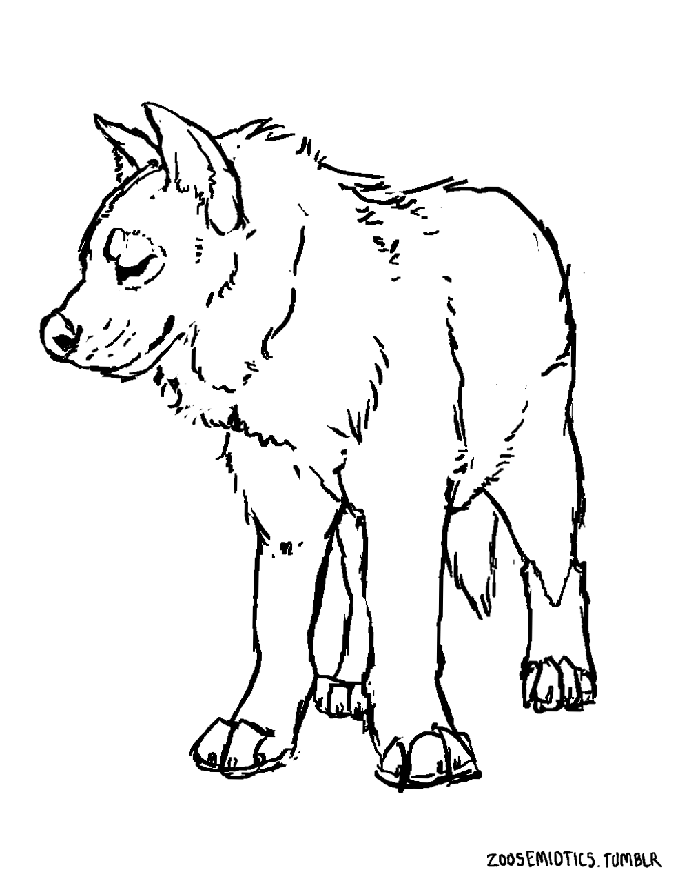 zoosemiotics: Striped hyena coloring page! This...