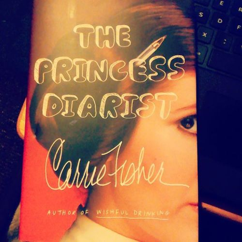 Today is a sad day as we all mourn the loss of our princess, Carrie Fisher. So, today to celebrate and remember her life, I'm going to read about it. #ripcarriefisher👰 #maytheforcebewithher #theprincessdiarist