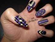 naildistraction purple and yellow