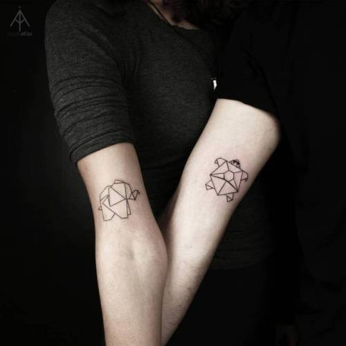 Matching Tattoo For Couples Small