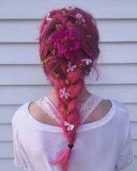 FUCK YEAH COLORED HAIR    Color it up, braid it down