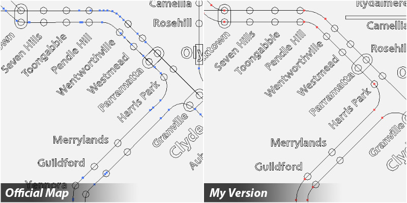 My Reworking of the New Sydney Trains Map Okay, I