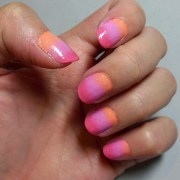 candy crush - tri-color ombre nails