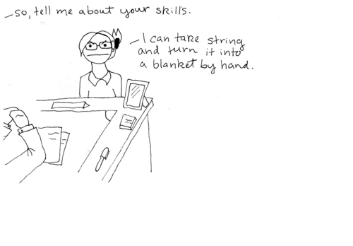 job searching comic