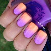 Lime Crime - Summer sunset  ombre nail art by ...