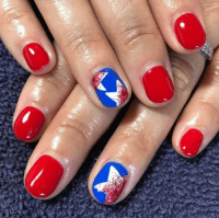 red white and blue nail designs | Tumblr