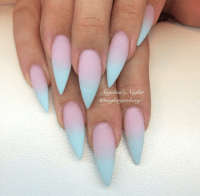 blue stiletto nails | Tumblr