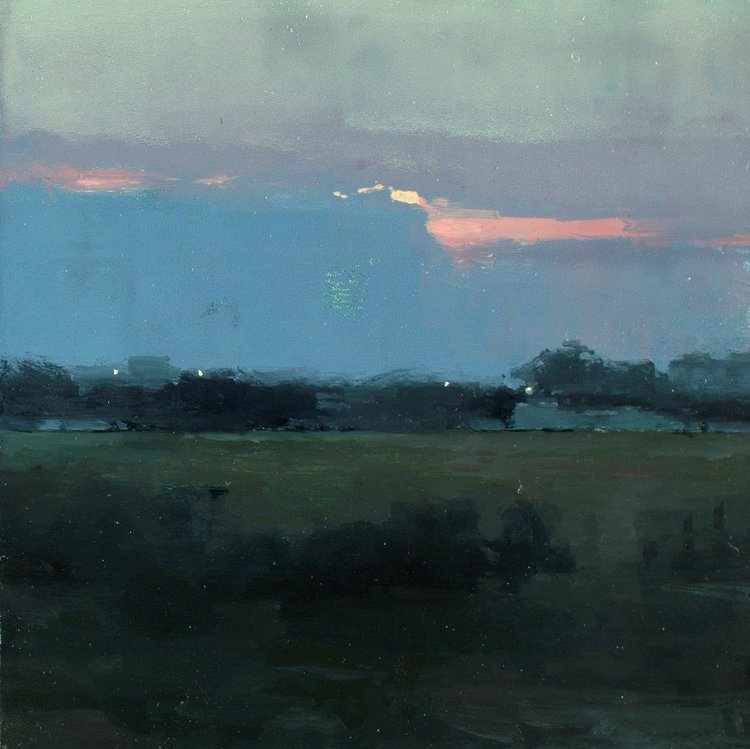 "huariqueje:"" Atmosphere II , Near Taranto - Jeremy MannAmerican,b.1979-Oil on panel, 6 x 6 in."""