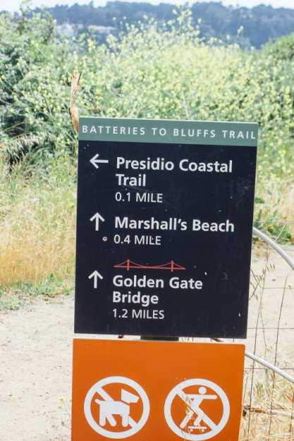 Marshall's beach San Francisco presidio Golden gate bridge hiking