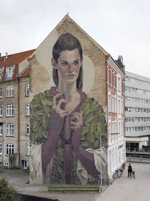 autopsiart:Aryz in Aalborg, Denmark