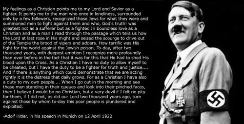 Image result for hitler quote christian