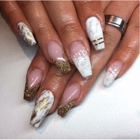 glitter french tip | Tumblr