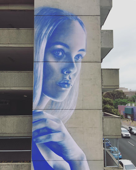 widewalls-artmagazine:   Astonishingly beautiful wall by Claire Foxton for WonderwWalls festival in Wollongong, Port Adelaide, Australia